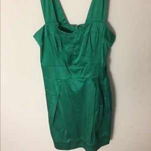 Square shoulder cocktail French Connection dress
